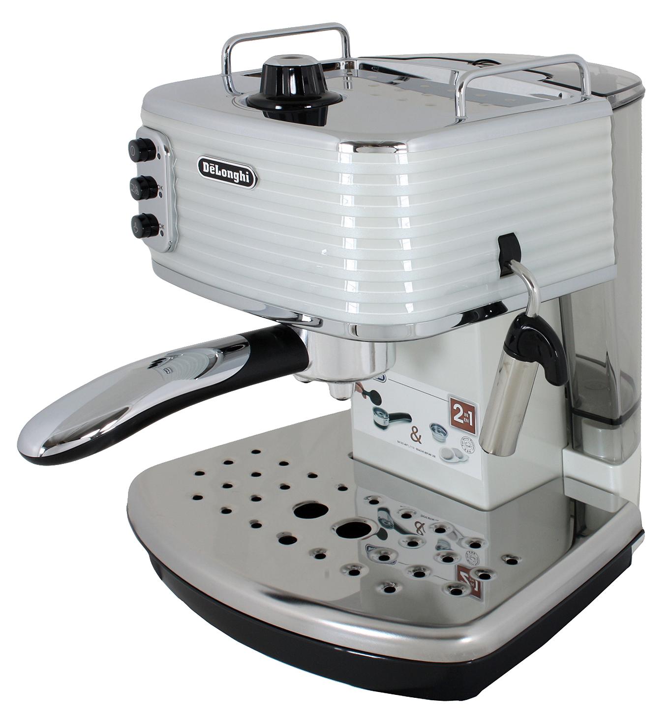 delonghi ecz351w scultura espressomaschine siebtr ger wei ebay. Black Bedroom Furniture Sets. Home Design Ideas